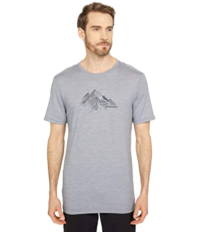 Smartwool Merino Sport 150 Rocky Range Graphic Tee (Light Gray Heather) Men