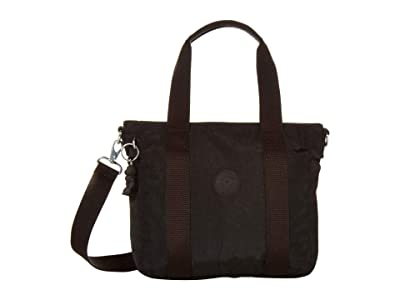 Kipling Asseni Mini Tote Bag (Black Noir) Tote Handbags