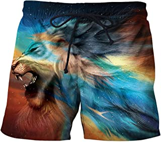 Men'S Clothing Beach Shorts 3D Casual Straight Printed Shorts