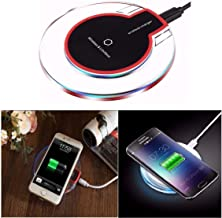 Sampri Wireless Charger for iPhone X/iPhone 8 Plus/iPhone 8/Samsung Galaxy S9+/S9 and Other Qi Enabled Devices, Black