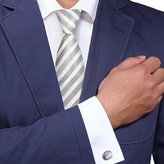 Y&G Men's Fashion Classic Fabric Mens NeckTies Cufflinks Set