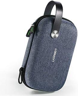 UGREEN Bolsa Organizador Estuche para Bateria Externa Cargador Cables Disco Duro Auriculares Tarjetas USB Accesorios Electrónica, Estuches Pequeños Funda Pequeña de Viaje Bolsillos Universal