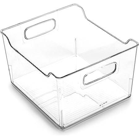 BINO | Plastic Storage Bins | THE SOHO COLLECTION | Multi-Use Organizer Bins | Built-In Handles | BPA-Free | Pantry Organization | Home Organization | Fridge Organizer | Freezer Organizer