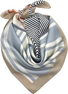 YOUR SMILE Silk Like Scarf Square Satin Hair Scarf Fashion Neck Scarfs for Women 27'' x 27''