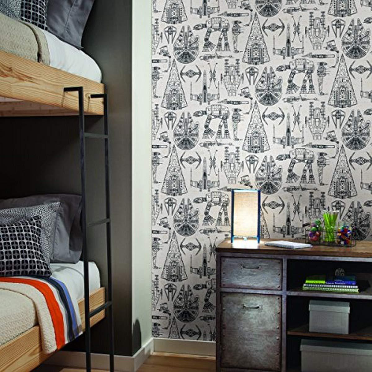 Roommates Rmk11036wp Star Wars Blueprint Peel And Stick Wallpaper Blue 20 5 X 16 5 Amazon Ca Tools Home Improvement