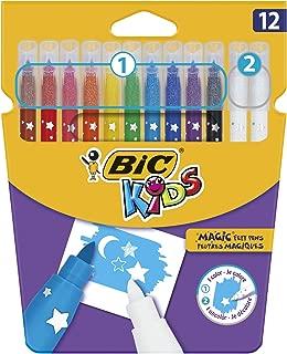 BIC Kids Colour & Erase Magic Felt Pens - Assorted Colours, Pack of 12