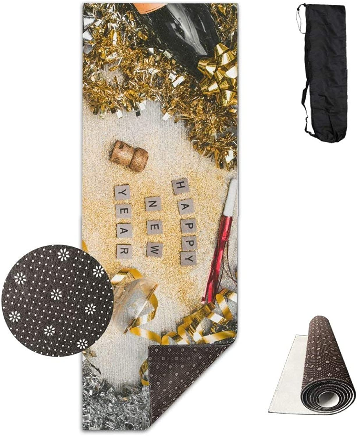 New Year Sequins Letters ECO Aqua Power Kinematic Iyengar Kundini Hot Pilates Gymnastics Hatha Yoga Mat and Other Mats That Need to Be Performed On The Ground