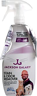 Jackson Galaxy: Stain & Odor Remover - Pet Urine Remover - 23 oz bottle - 2 Fill Tablets Included - Eliminates Pet Stains & Odors Quickly - Works On Multiple Surfaces - Non-Toxic Formula