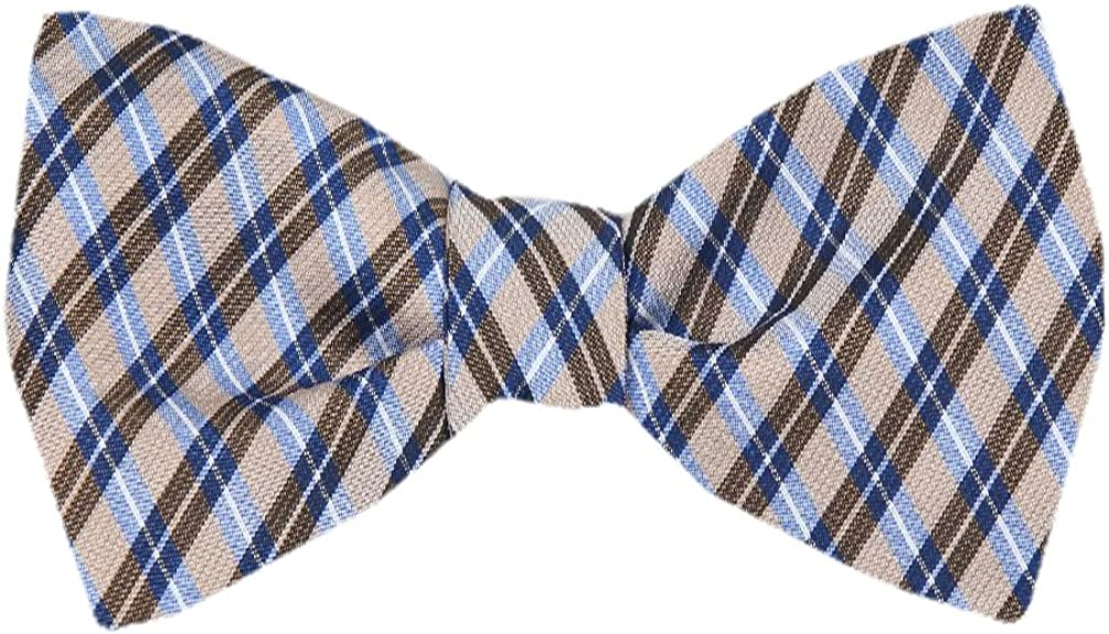FBTZ-850 - Men's Silk Self Tie Bowtie Tie Yourself Bow Ties