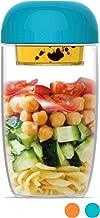 ClipFresh CFIB9307B Airtight BPA-Free Salad Shaker with Locking Lid, 660 mL, Blue