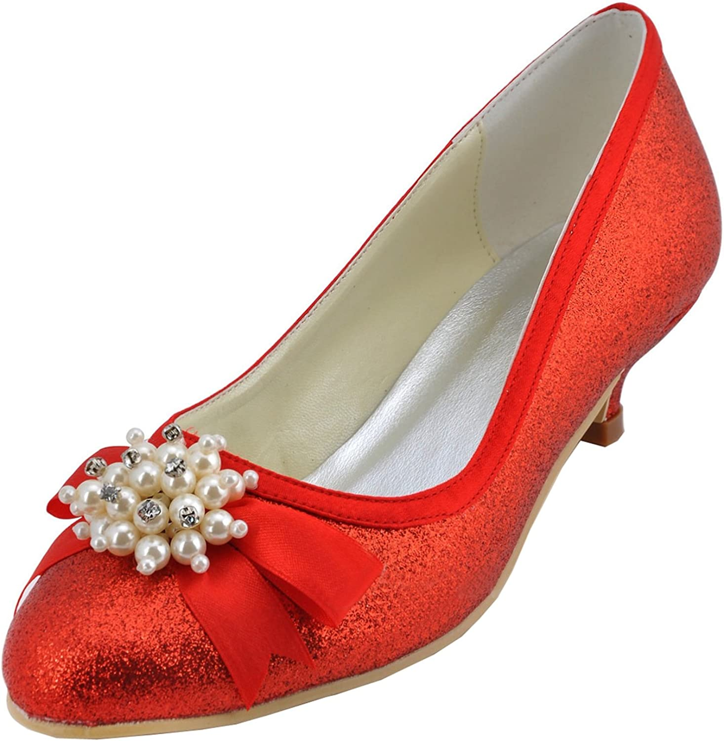Minitoo GYMZ709 Womens Beading Flower Glitter Evening Party Prom Bridal Wedding shoes Pumps Sandals Flatfs