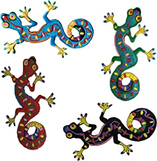 Patch Lizards collection Iron-On  Lizard Men  3 inch Flock material NEW Easy to apply