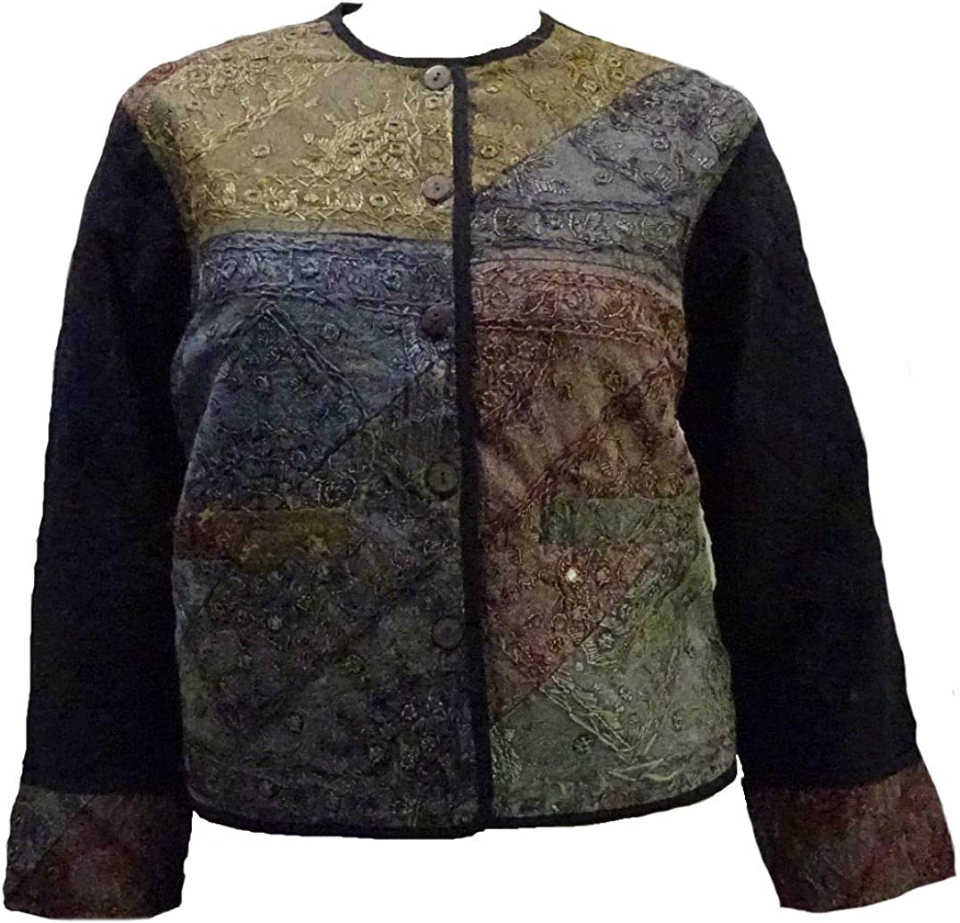 Sacred Threads Patchwork, Embroidered Jacket S/M