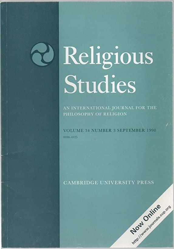 Religious Studies: An International Journal for the Philosophy of Religion, vol. 34, no. 3 (September 1998) (Veridicality; Locke's Parity Thesis; Divine Fission: Social Trinitarianism; Mystical Perception; Eternal Act)