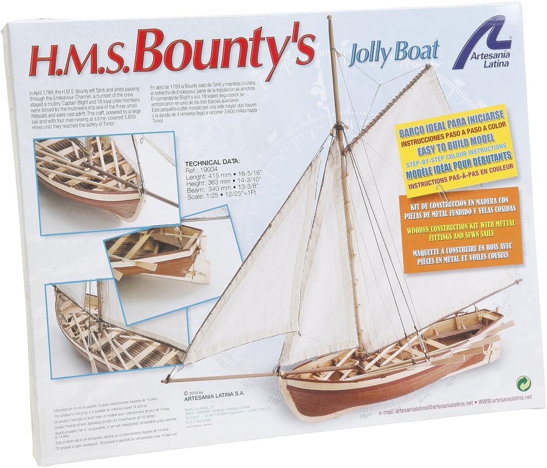 Artesania Latina H.M.S. BOUNTY's Jolly Boat 19004 Model Ship Kit 1 35