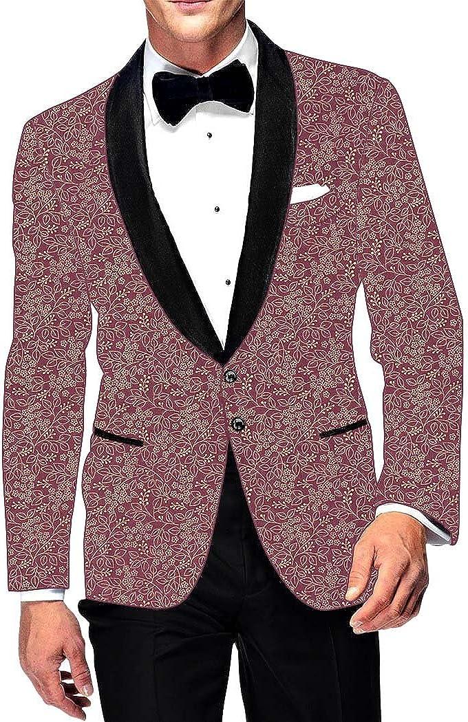 INMONARCH Mens Slim fit Casual Burgundy Cotton Sport Coat Blazer Sport Jacket Coat Jacket SB003BG