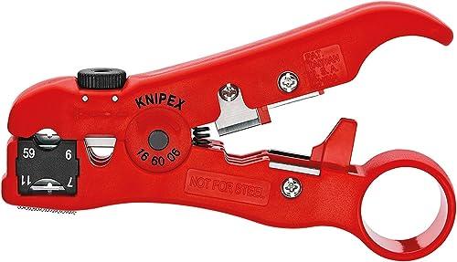 KNIPEX Utensile spelacavi per cavi coassiali e cavi di trasmissione dati (125 mm) 16 60 06 SB