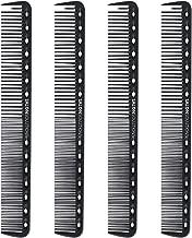 SALONSOLUTIONS Professional Cutting Combs Anti-static Carbon Fiber (4 PCS)