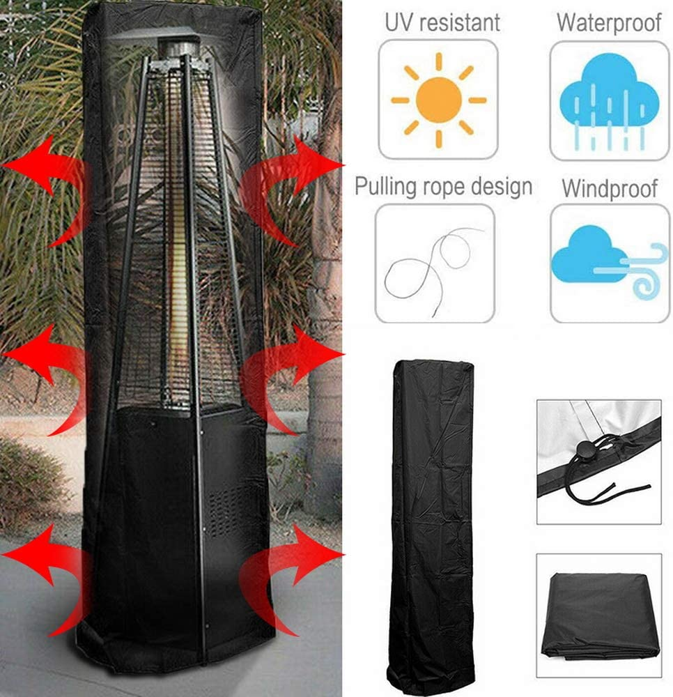Lifemaison Patio Heater Cover 61 * 53 * 221cm Stand Up Patio Heater Cover Waterproof Heater Protector 1Pcs