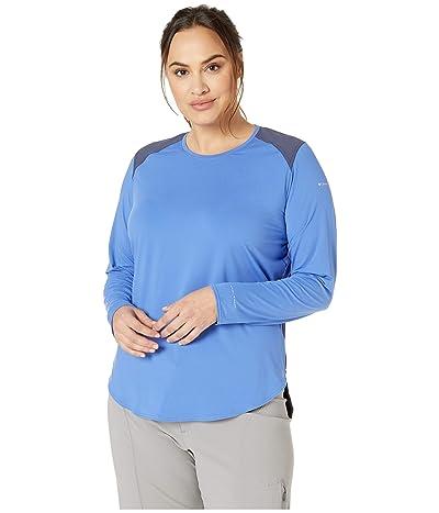 Columbia Plus Size Saturday Trailtm Knit Long Sleeve Shirt (Arctic Blue/Nocturnal) Women