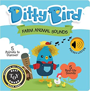 Our Best Interactive Noisy Farm Animals First Year Baby Book. Educational Musical Toys for one Year Old. Sound Books for B...