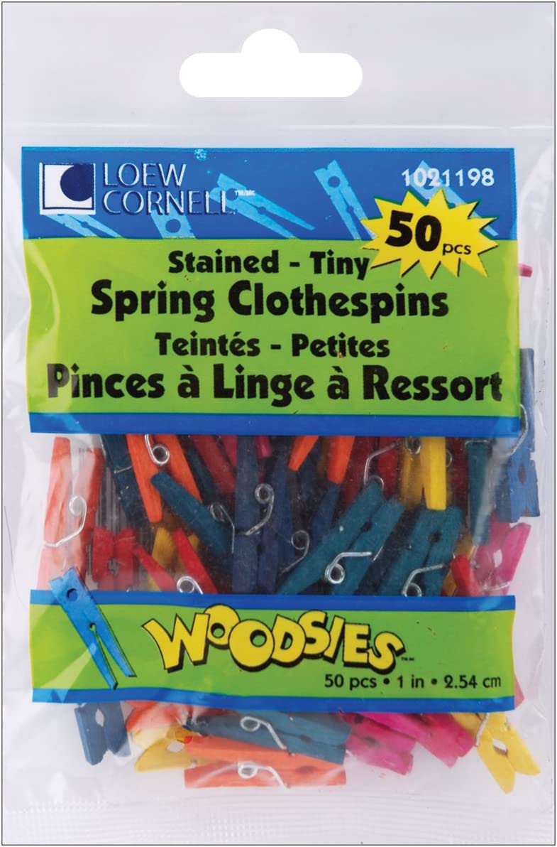 Loew-Cornell Simply Art Wood Tiny Clothespins NEW 1