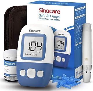 sinocare Medidor de glucosa en sangre kit/Control de la diabetes kit con codefree tiras x 25 y caja para diabéticos - en mg/dL (Safe AQ Angel)