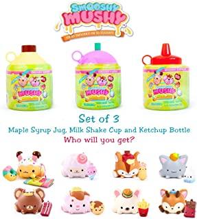 Smooshy Mushy Pets and Besties - Maple Jar, Ketchup Bottle and Jug - Slow Rise Squishy Scented - Bundle Set of 3