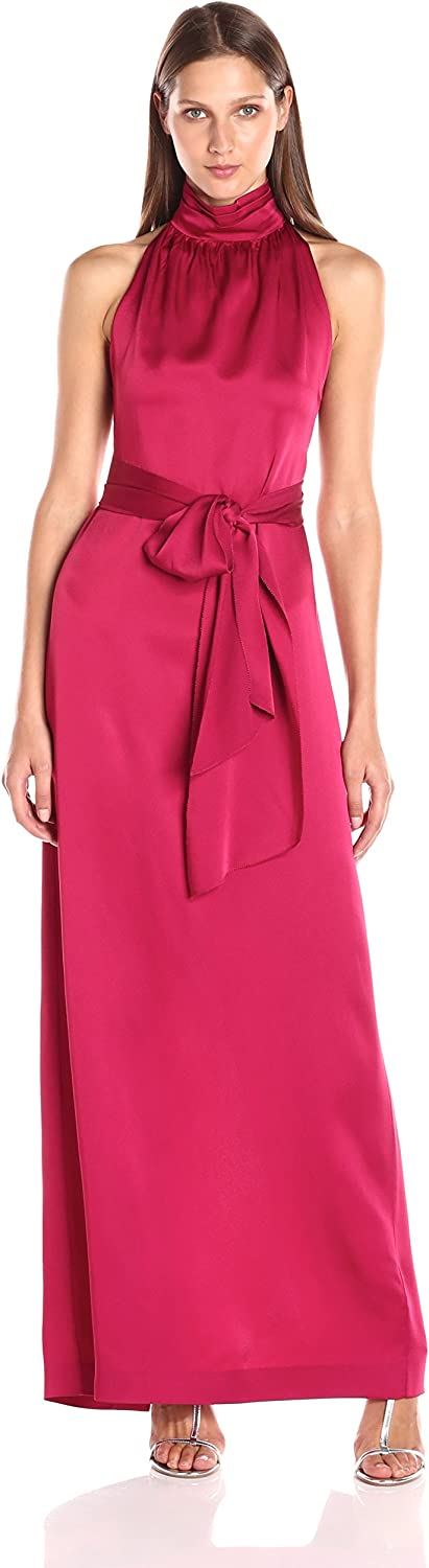 Rachel Zoe Womens Darby Crepe TNK Sleeveless Gown Dress