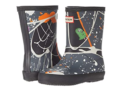 Hunter Kids Original First Classic Molecular Splash Print Wellington Boots (Toddler/Little Kid) (Molecular Character Splash Black) Kid