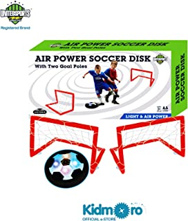 Kidmoro United Sports Indoor Air Power Soccer Game Set, White