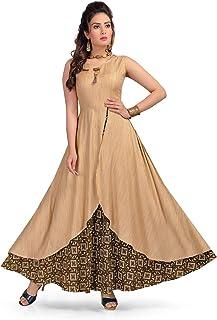 Bhavana Textiles Women's Rayon A-line Designer flared anarkali Kurta Summer special long gown kurta
