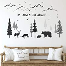 Made in the USA Nursery Decor GF412 Nature Decal Sky Nature Sticker Recreation Plants Decals Bedroom Decor Tree Decal Forest Decal