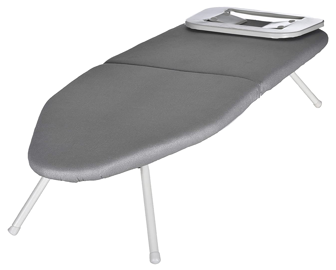 Tabletop Ironing Board - Compact, Collapsible Folding Legs, Metal Iron Rest to Prevent Scorching, Carrying Bag for Travel and Storage. Convenient for College Dorm, Studio Apartments and Traveling.