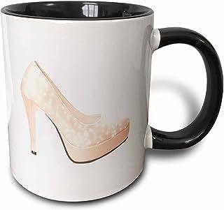 b7f8b111b69cc Amazon.com: 3dRose Cute Pink Sparkly High Heel Shoe, Ceramic Mug, 15 ...