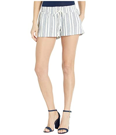 Roxy Oceanside Yarn-Dyed Shorts (Snow White True Navy Beachside) Women