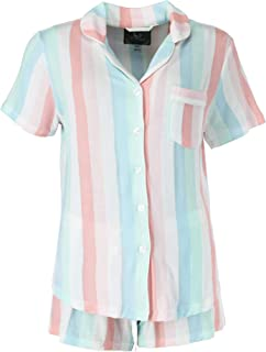 PJ Couture Women's Plus Size Short Sleeve Top and Shorts Pajamas