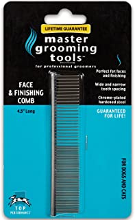 Master Grooming Tools Greyhound Pet Grooming Comb