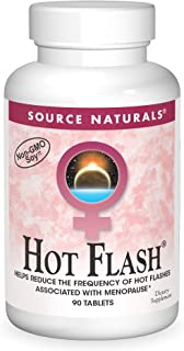 Source Naturals Hot Flash - Helps Reduce The Frequency of Hot Flashes Associated with Menopause, Non-GMO Soy - 90 Tablets