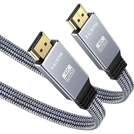 2M Cavo HDMI 4K, Snowkids 4K60HZ Cavo piatto HDMI 2.0 ad alta velocità Supporto 18 Gbps 3D UHD 2160P HDCP 2.2 ARC Compatibile con gli ultimi standard Fire TV, LG, PS4 / PS3 / PC - Grigio