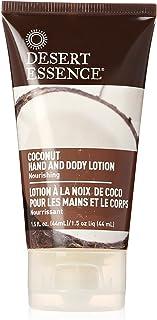 Desert Essence Coconut Hand & & Body Lotion - 1.5 Fl Oz - Nourishing - Hydrates & Softens Skin - Silky & Smooth - Rejuvena...