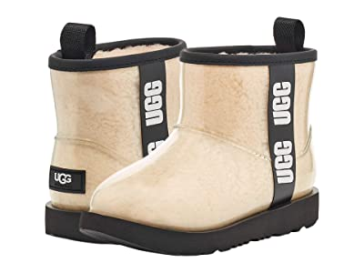 UGG Kids Classic Clear Mini II (Toddler/Little Kid/Big Kid) (Natural/Black) Girls Shoes