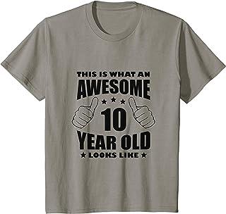 Niños 10º Cumpleaños Impresionante Regalo Niño Niña Edad 10 años Camiseta