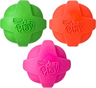 Hartz Dura Play Ball for Medium to Large Dogs (Colors May Vary) (3 Dura Play Balls)…