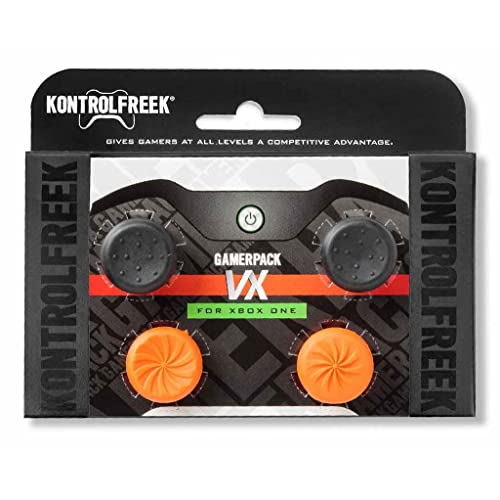 KontrolFreek GamerPack VX for Xbox One Controller | Performance Thumbsticks | 3 High-Rise, 1 Mid-Rise Concave | Black/Orange