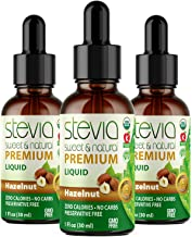 ( 3 Pack ) Hazelnut Premium Quality Stevia Drops | Organic Liquid Stevia | Best Sugar Substitute | 100% Pur...