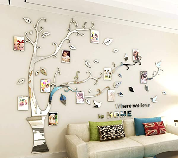 3D Acrylic Wall Stickers Photo For Living Room Bedroom Sofa Backdrop Tv Wall Background Originality Stickers Wall Decor Decal Sticker Home Art Decor M Acrylic Right
