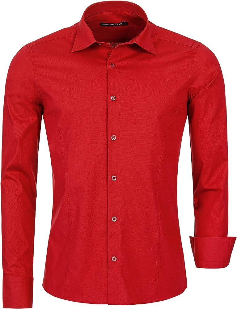 Redbridge, camicia per uomo,97% cotone, 3% elastan R-2111