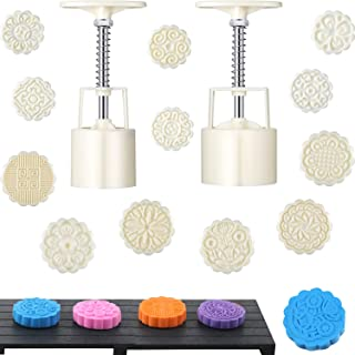 14 Pieces Bath Bomb Mold Kit Includes 2 Pieces Bath Bombs Press with 12 Pieces Stamps for Making DIY Bath Bombs Tools