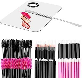 Makeup Mixing Palette with Spatula and 250PCS Disposable Makeup Applicators Tools Kit (Disposable Mascara Wands, Lipstick Applicators, Eyeliner Brushes)